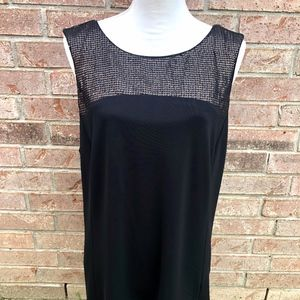 Narciso Rodriguez Black Sequined Sleeveless Top XL